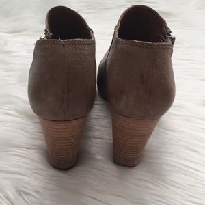 Lucky Brand Shoes - Lucky Brand Pabla Leather Peep Toe Booties